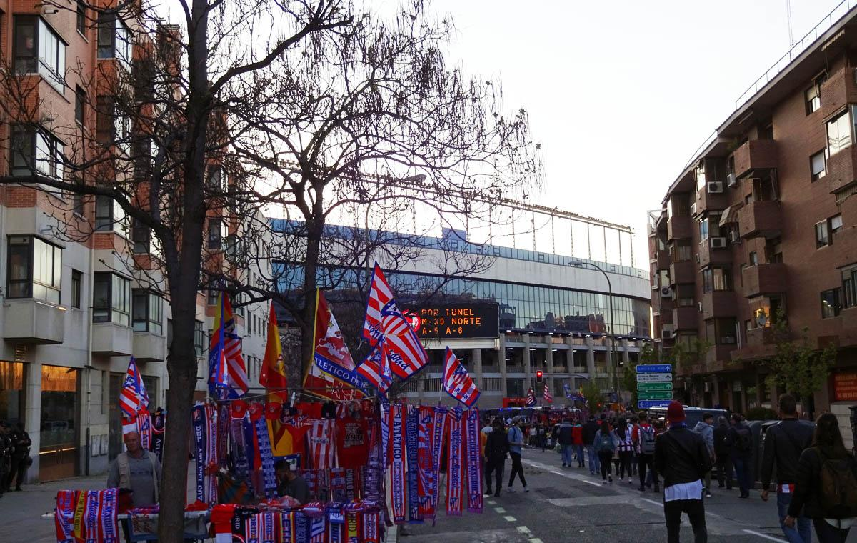 Estadio Vicente Calderón vor dem Spiel