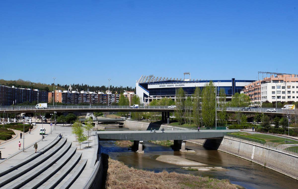 Estadio Vicente Calderón am Rio Manzanares