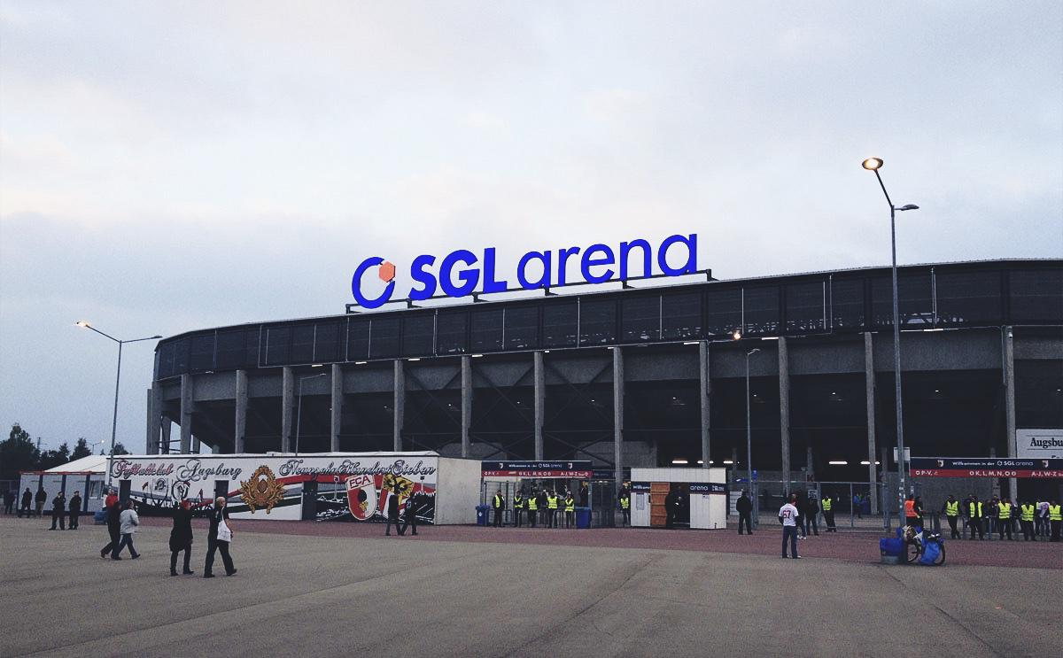 Die SGL-Arena in der Augsburger Pampa im September 2013