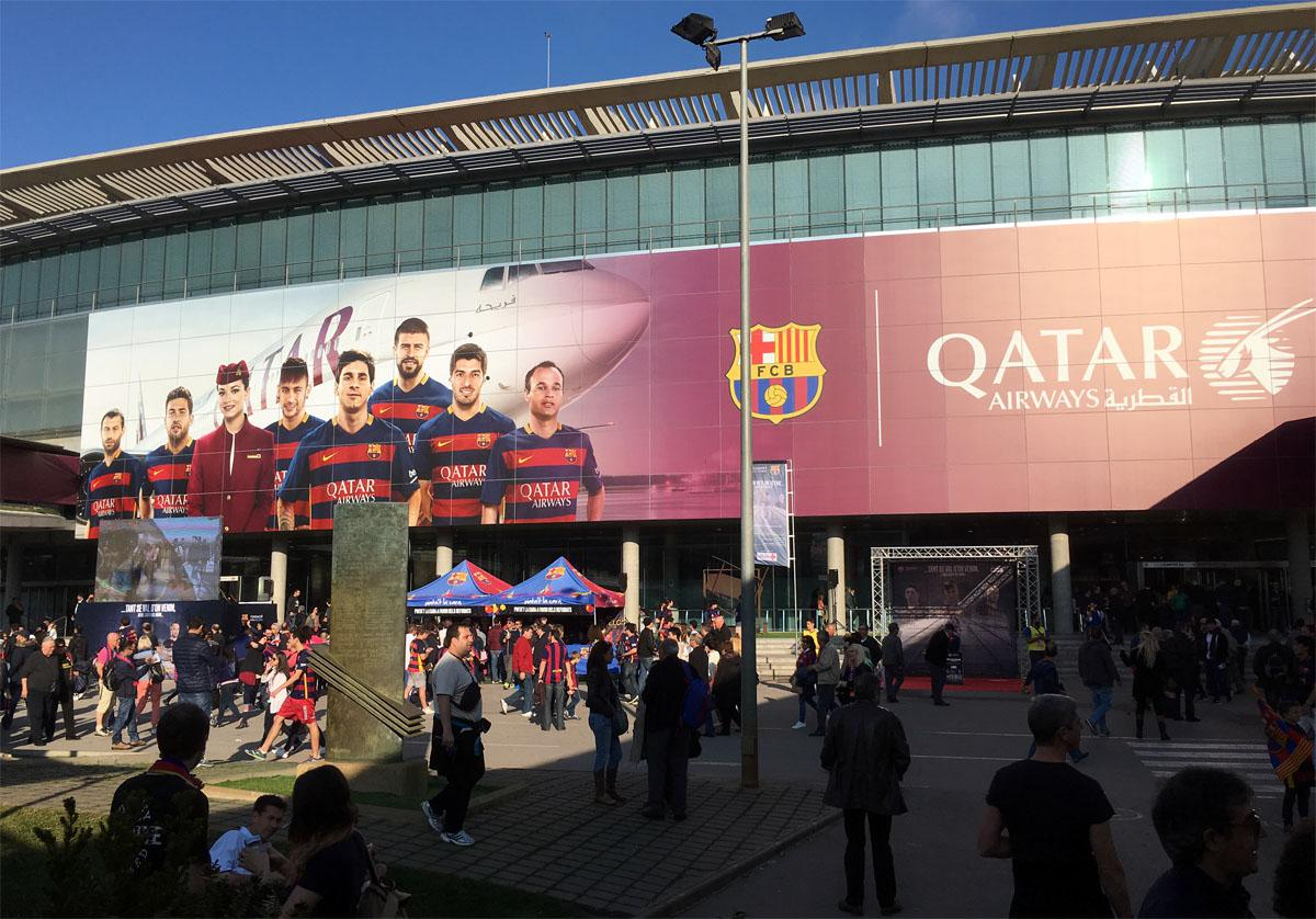 Bild: Camp Nou vor dem Spiel