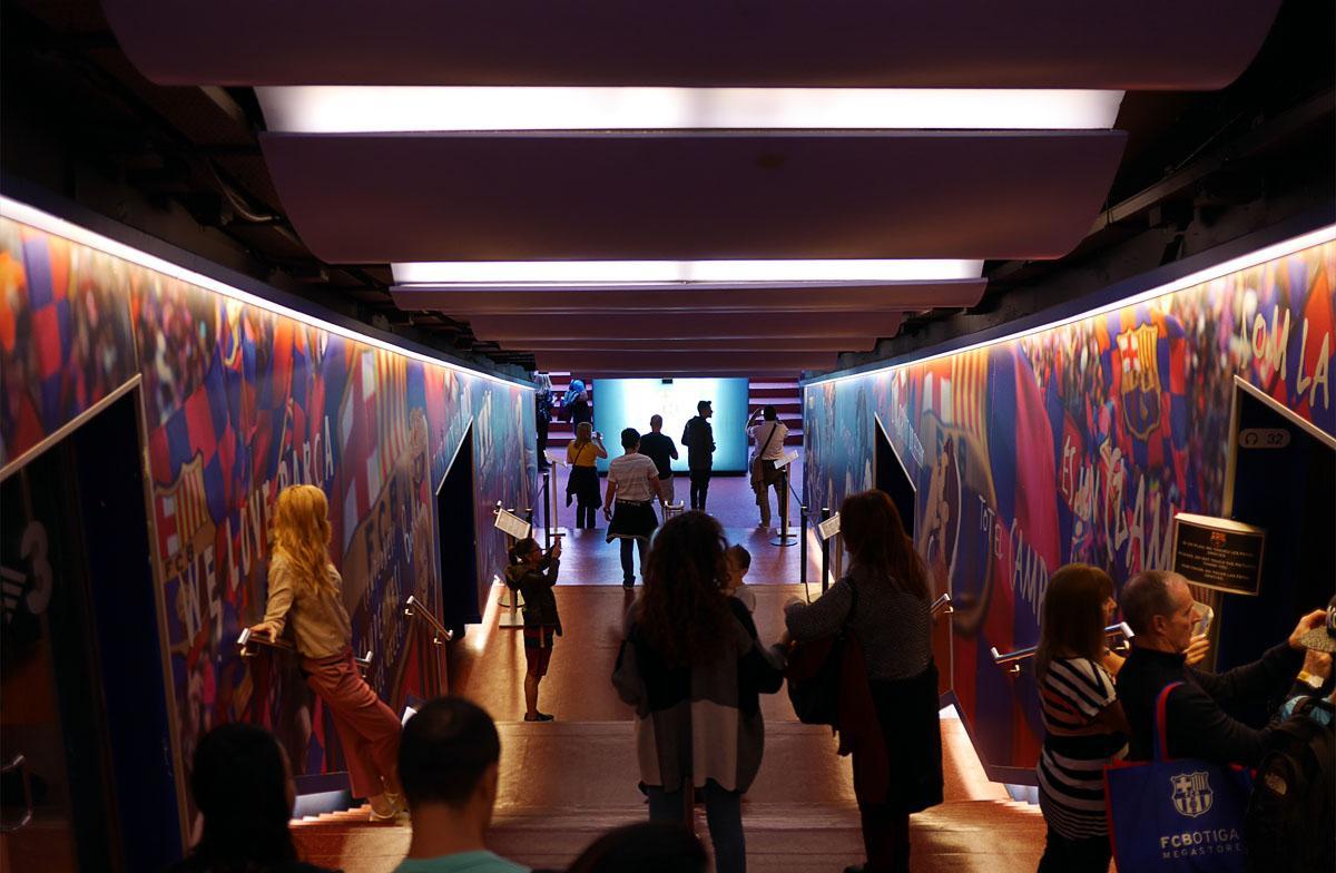 Bild: Spielertunnel
