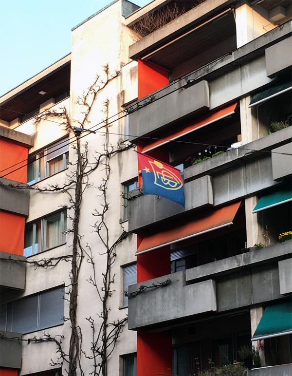 Beflaggung in Basel