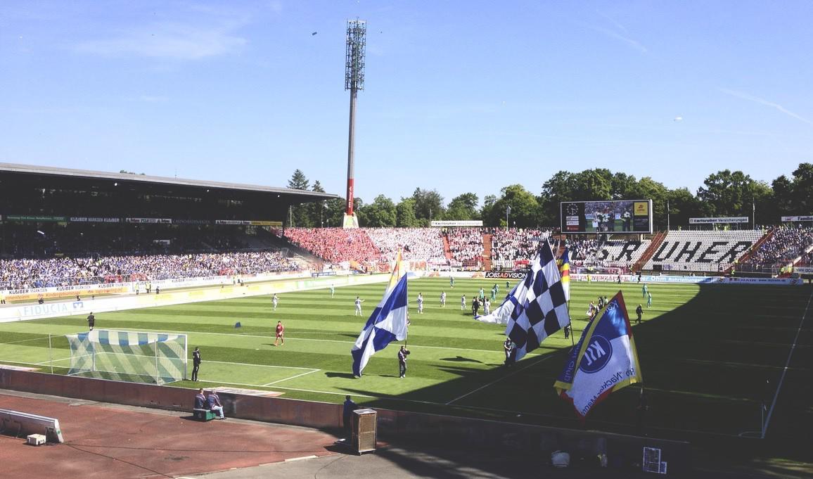 Wildparkstadion Karlsruhe, erstes Spiel der Saison 2014/15