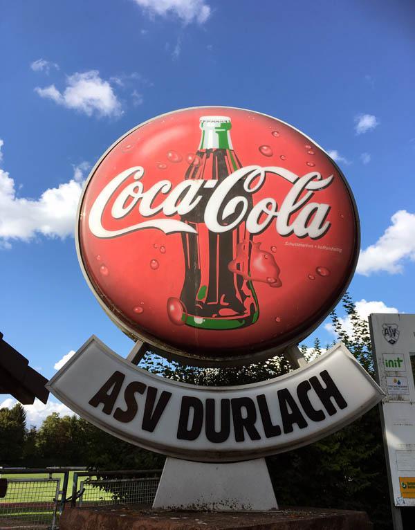 ASV Durlach und Coca Cola.
