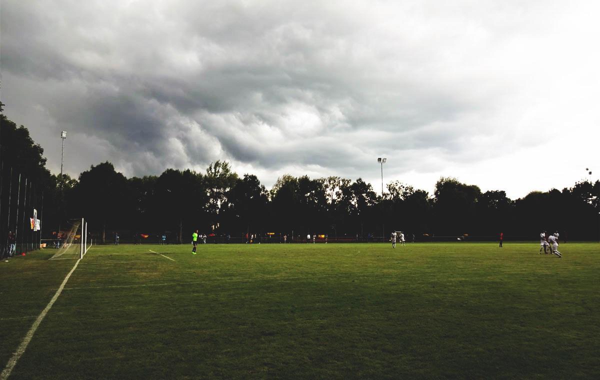Die Wolken kündigten den großen Regen an…