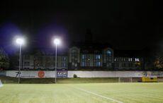 Die Reste des alten KFV-Stadions…