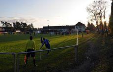 Eckball für Forchheim in der untergehenden Herbstsonne…