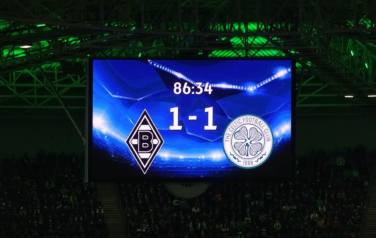 der ballreiter a german team had to fight borussia m nchengladbach vs celtic fc 1 1. Black Bedroom Furniture Sets. Home Design Ideas