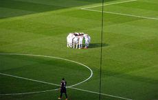 Borussia vor dem Anpfiff