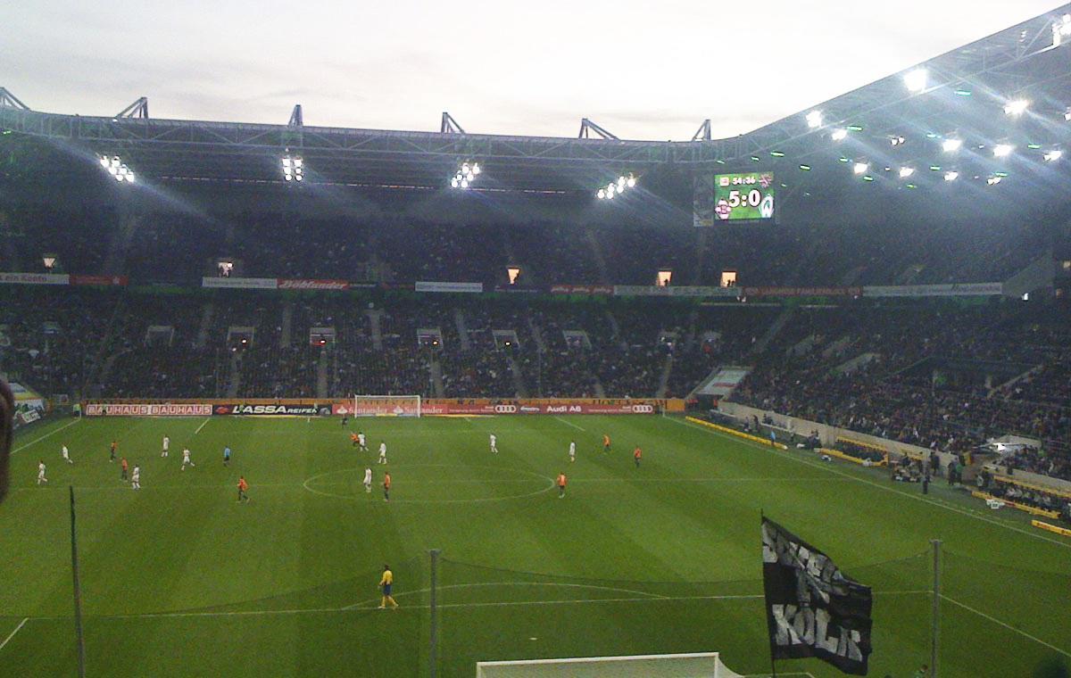 Gladbach vs Werder 5:0, 19.11.2011. Damals waren Smartphonekameras noch nicht so gut.