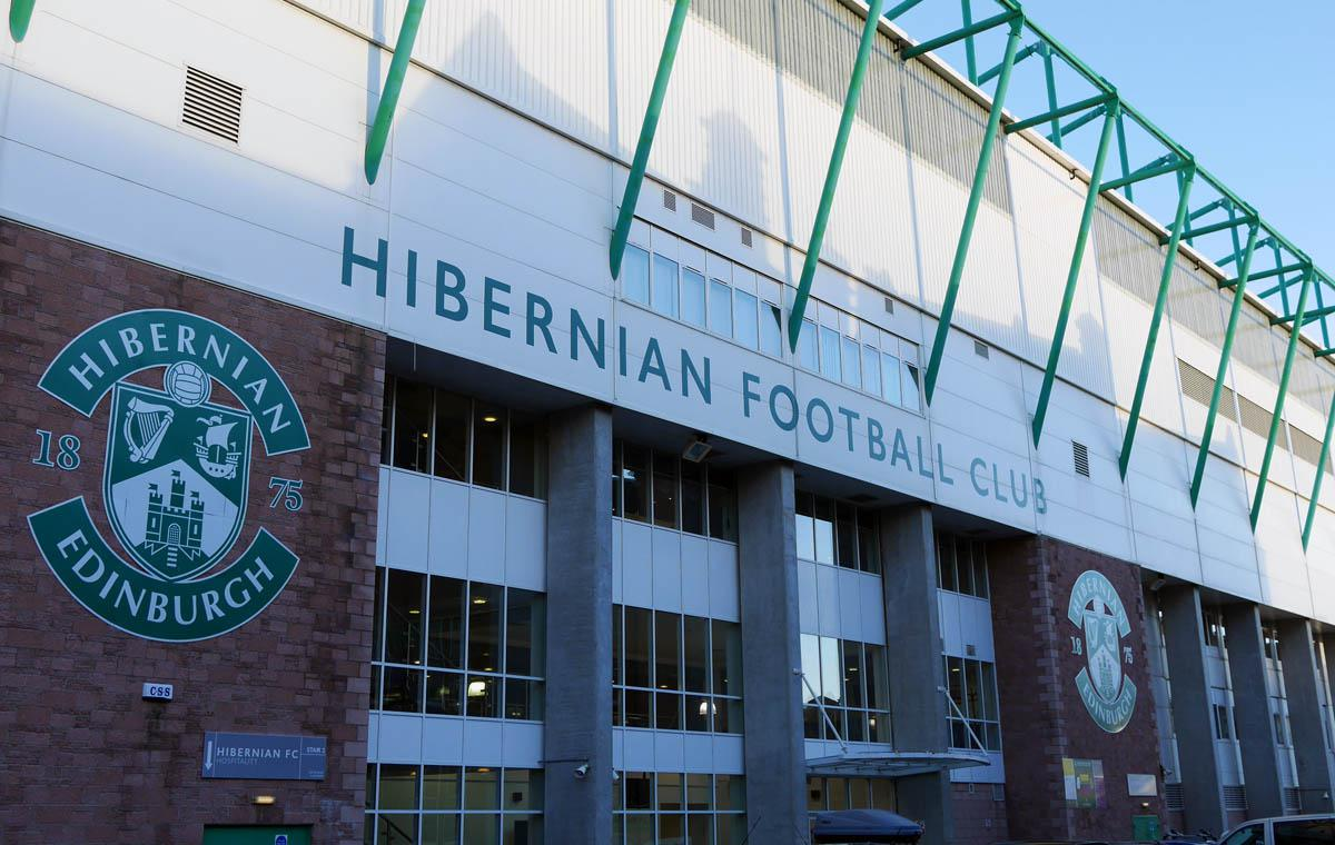 Hibernians Stadion an der Easter Road in Edinburgh
