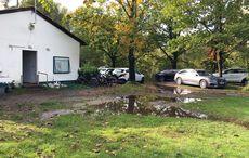 Der Regen in Karlsruhe hatte seine Spuren hinterlassen.