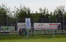 Die Kirchfeld-Ultras mit Aufstiegs-Banner!