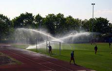 Wasserspiele in der Halbzeit…