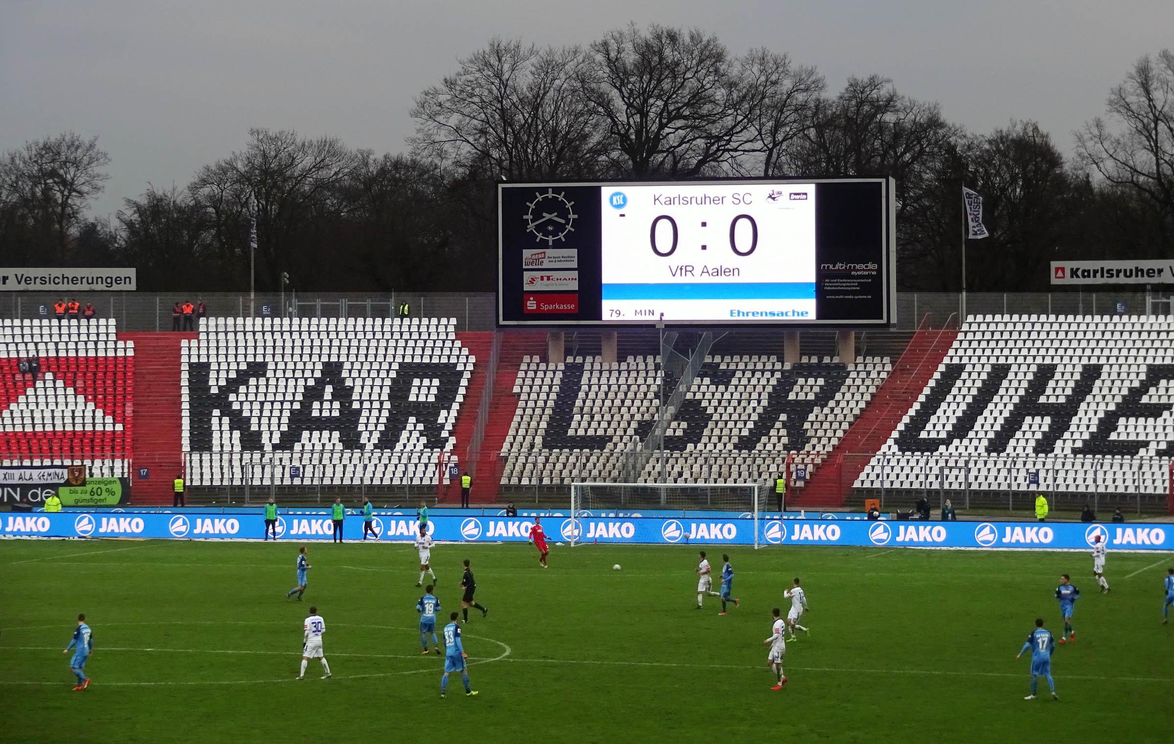 KSC vs VfR Aalen – Tore Fehlanzeige…
