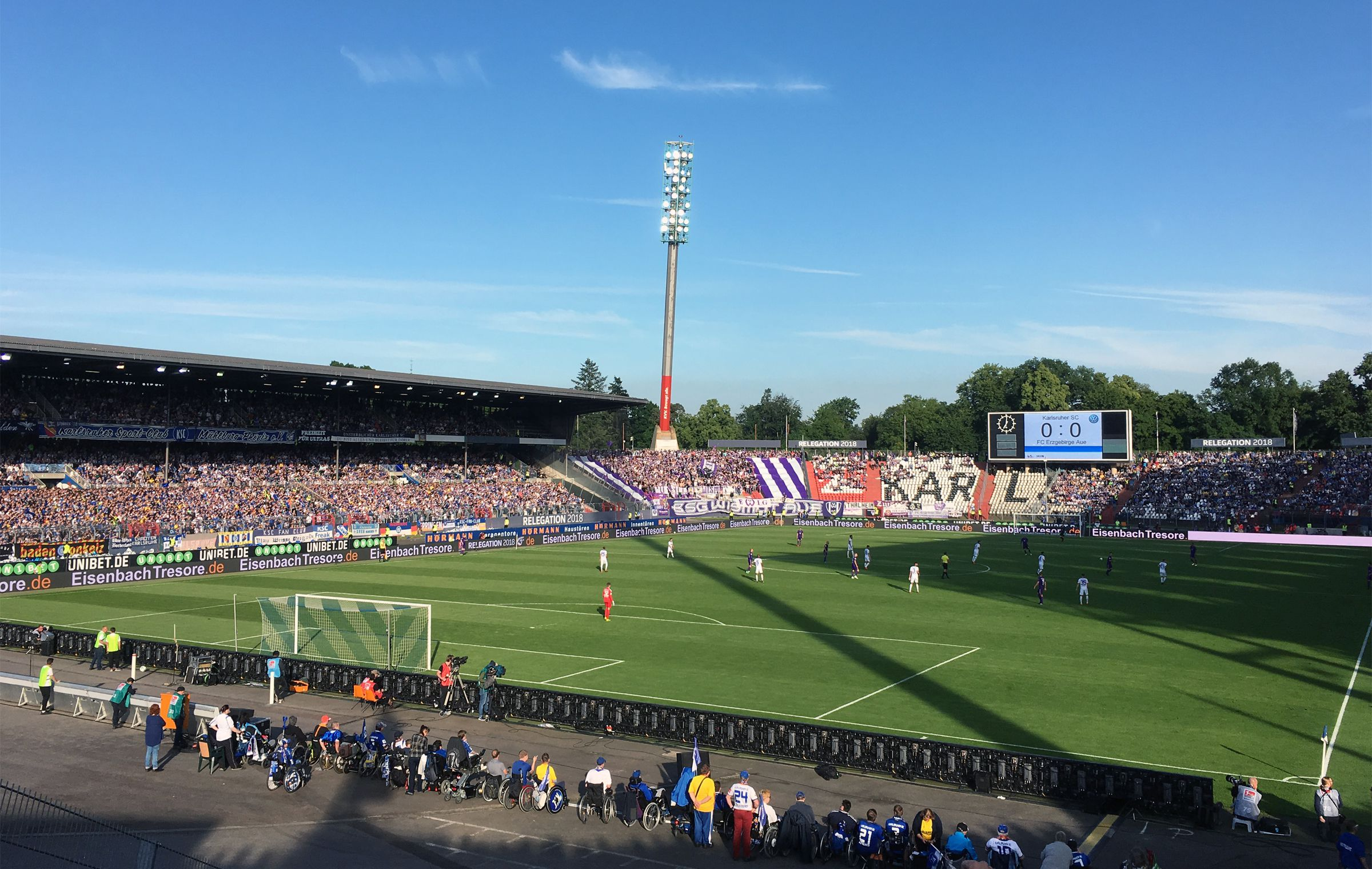 KSC vs FC Erzgebirge Aue 0:0