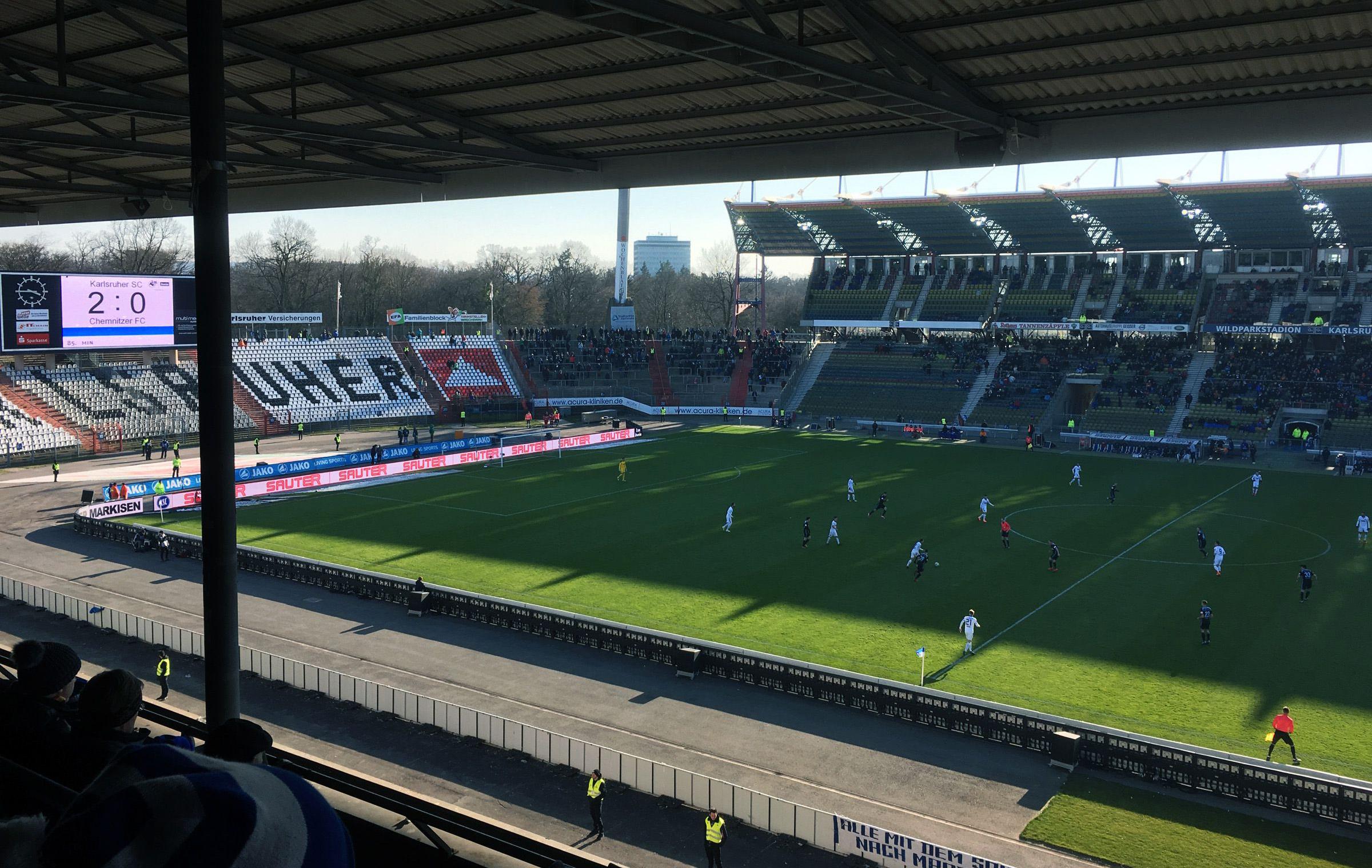 KSC vs Chemnitzer FC 2:0