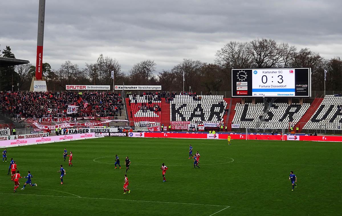 KSC vs Fortuna Düsseldorf 0:3
