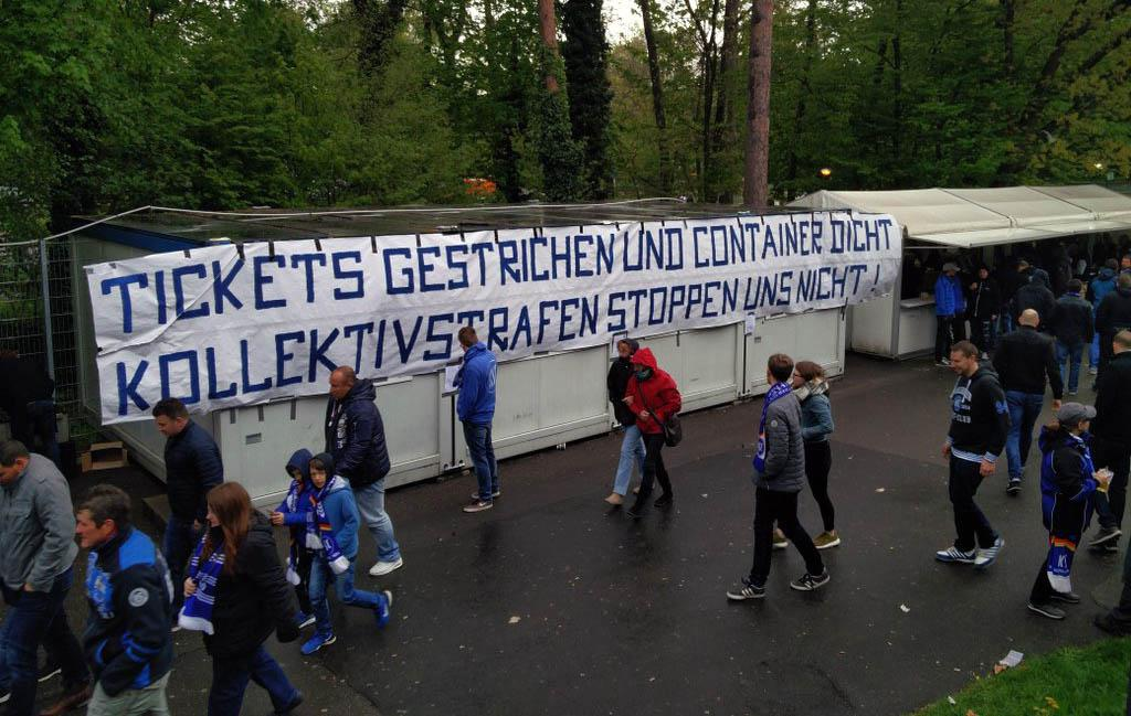 Protest am Supporters-Container…