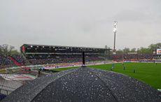 Der große Regen vor KSC vs 1. FC Nürnberg