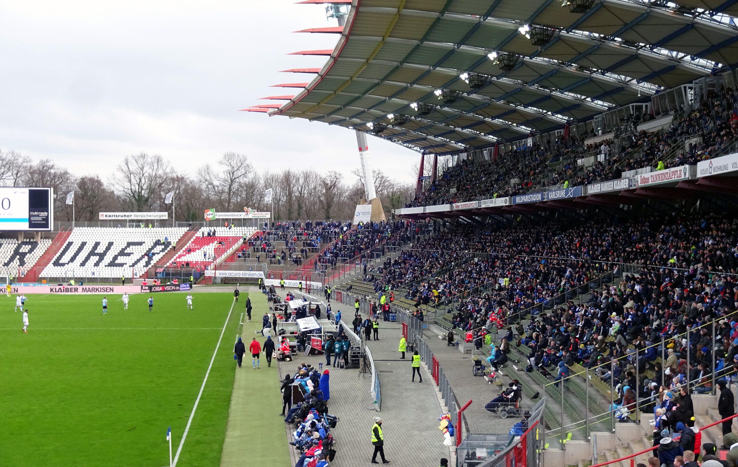 Guter Besuch für aktuelle Karlsruher Verhältnisse…