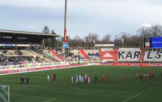 KSC vs FSV Frankfurt 1:1, nach dem Spiel.