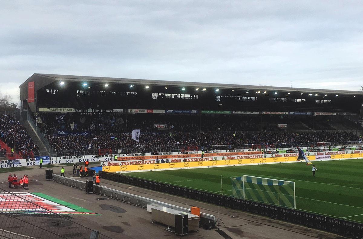 KSC vs Greuther Fürth - Gegengerade