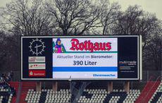 Bierometer-Stand beim Heimsieg gegen Hannover 96…