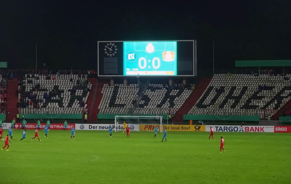 KSC vs Bayer 04 Leverkusen 0:0 nach 90 Minuten!