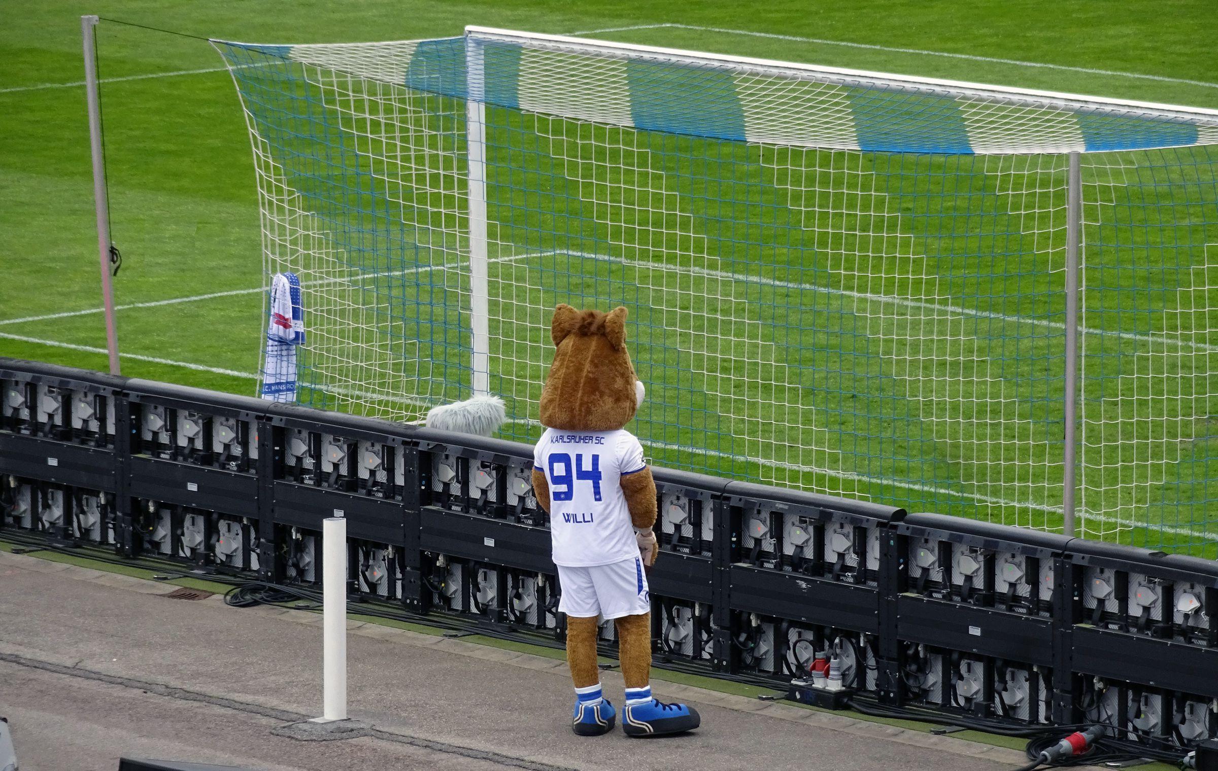 Willi wartet auf einen Ball im Tor…