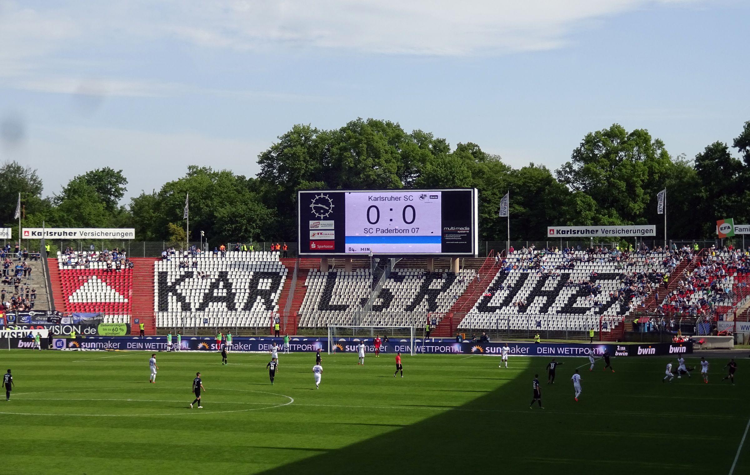 Endstand: KSC vs SC Paderborn 0:0