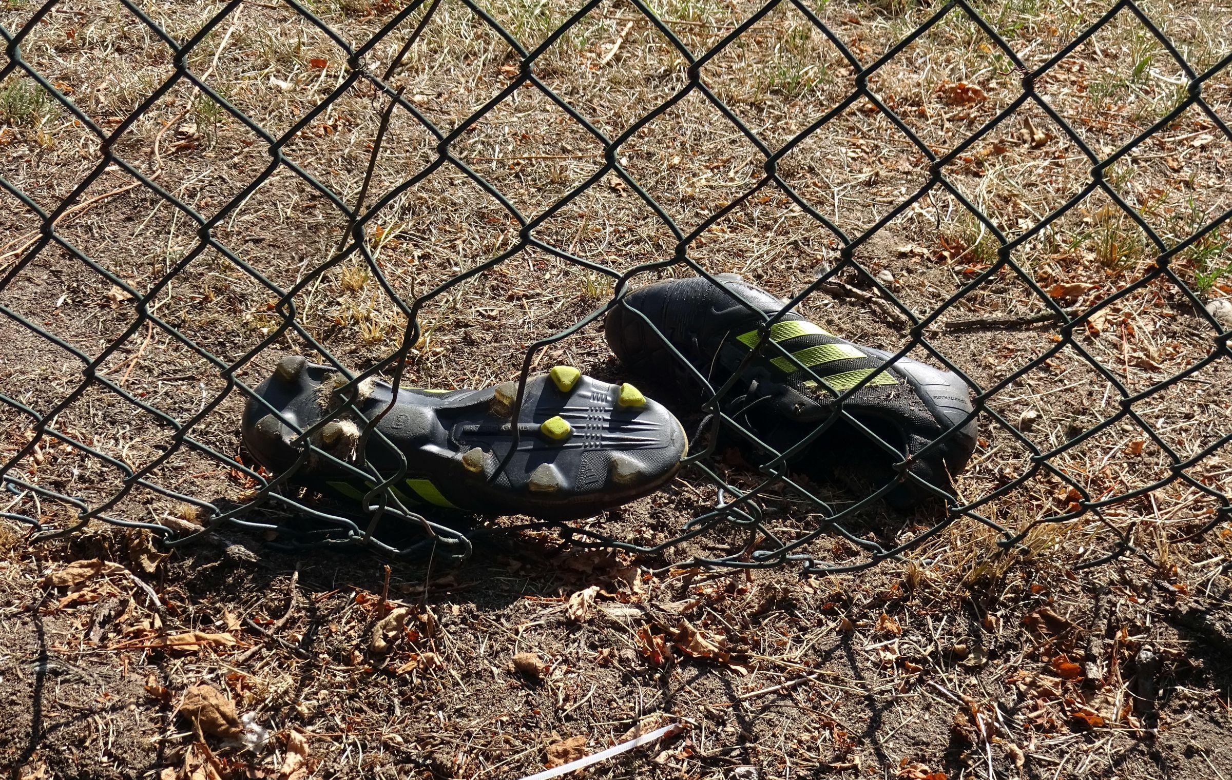 Abgelegtes Schuhwerk