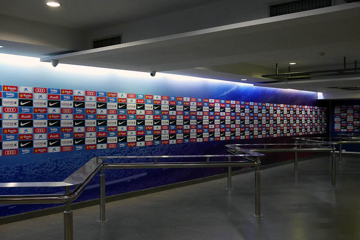 Bild: Mixed Zone im Camp Nou