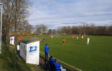 Pünktlich zum Match am Mühlberger Bahnhof gab es den ersten trockenen Nachmittag der Woche…