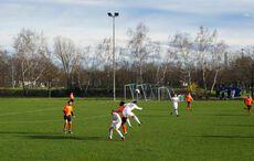 Es gab intensive Zweikämpfe im Mittelfeld…