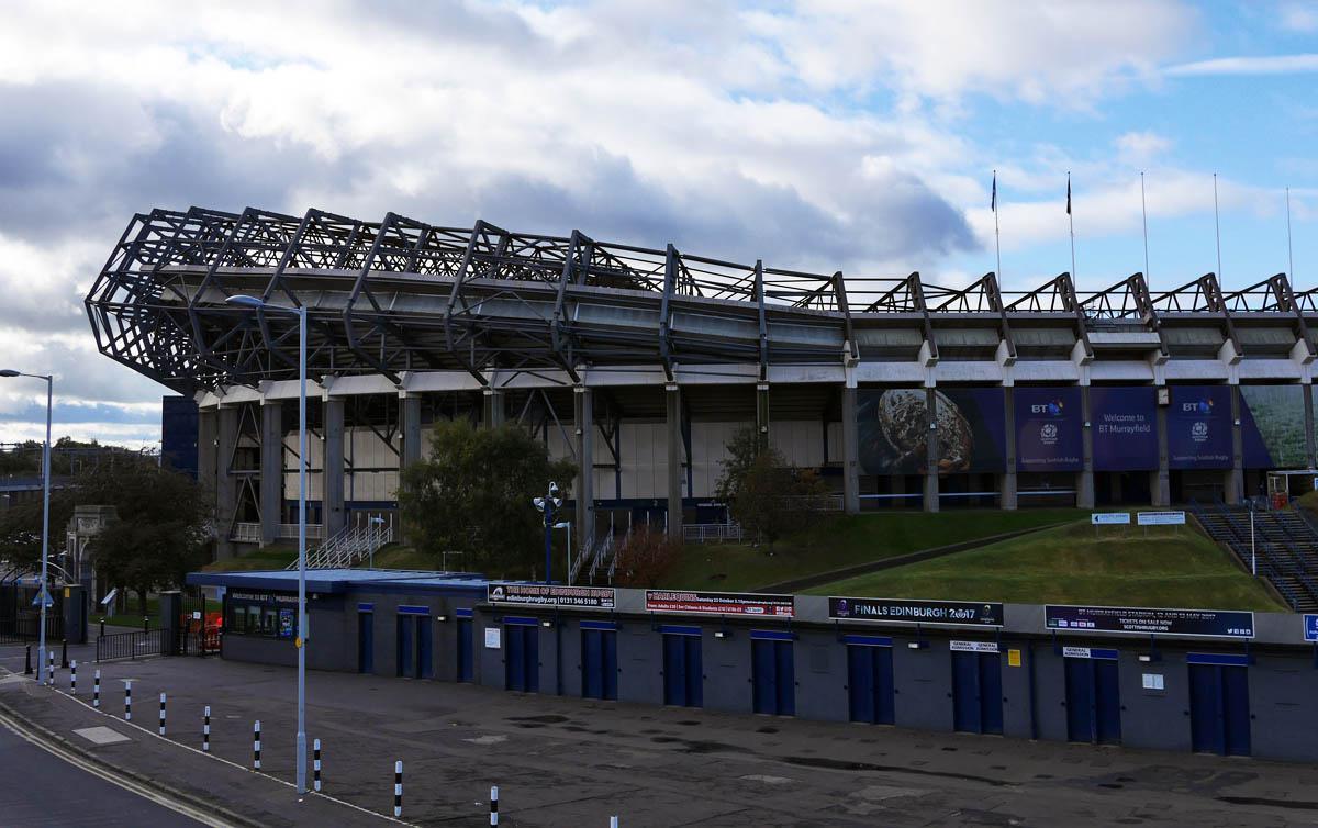 Murrayfield Stadium, die temporäre Heimat der Hearts, im Oktober 2016
