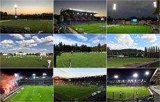 Collage von Fotos einiger Stadionbesuche des Jahres 2017