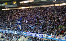 Racing Strasbourg vs Red Star FC 0:0 - Der heimische Fanblock.