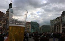 Happening auf dem Leipziger Marktplatz