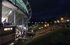 Die alten Tribünen des Zentralstadions…