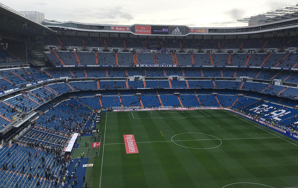 Das noch leere Stadion…