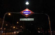 Metro-Station vor dem Bernabéu