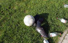 Fußballplatz-Stilleben…