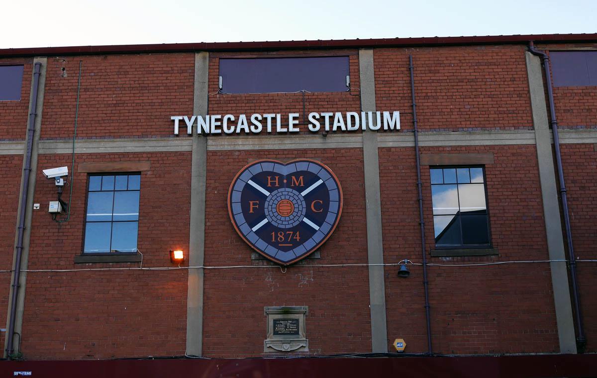 Die Haupttribüne des Tynecastle Stadium im Oktober 2016