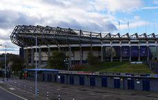 Murrayfield Stadium, schottisches Rugby-Nationalstadion in Edinburgh, im Oktober 2016