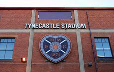 Die alte Haupttribüne des Tynecastle Stadium in Edinburgh kurz vor dem Abriss 2016