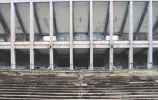 Fassade des Strahov-Stadion.