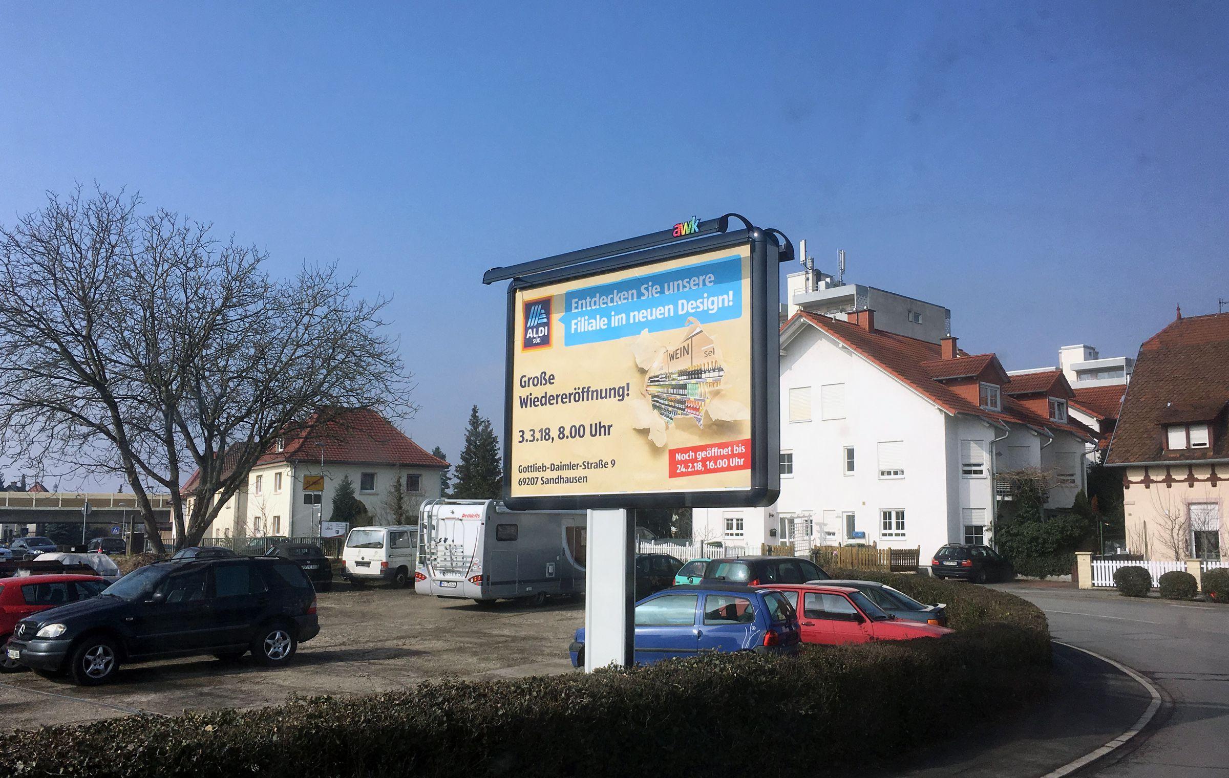 Topevent in Sandhausen: Wiedereröffnung der Aldi-Filiale…