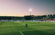 Sonnenuntergang über dem Hardtwaldstadion…