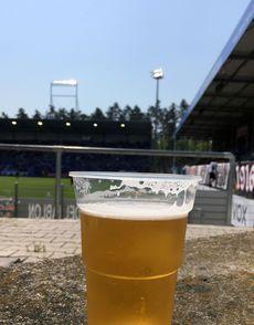 Stadionbier bei sommerlichen Temperaturen…